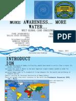 More Awareness... More Water...