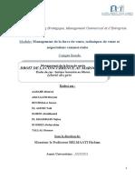 Rapport Management de la Force de vente