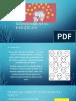 Managementul emoțiilor-