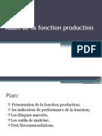 audit de la fonction production