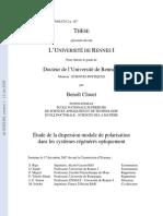 Étude de La Dispersion Modale de Polarisation - B.clouet 2007