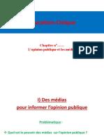 Lopinion Publique Et Les Medias (1)