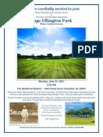 Page Ellington Park Invitation