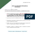 APRENDER DE MI  CULTURA PARA FORTALECER LA CONVIVENCIA ACTIVIDADES