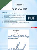 LEZIONE 3 _Proteine