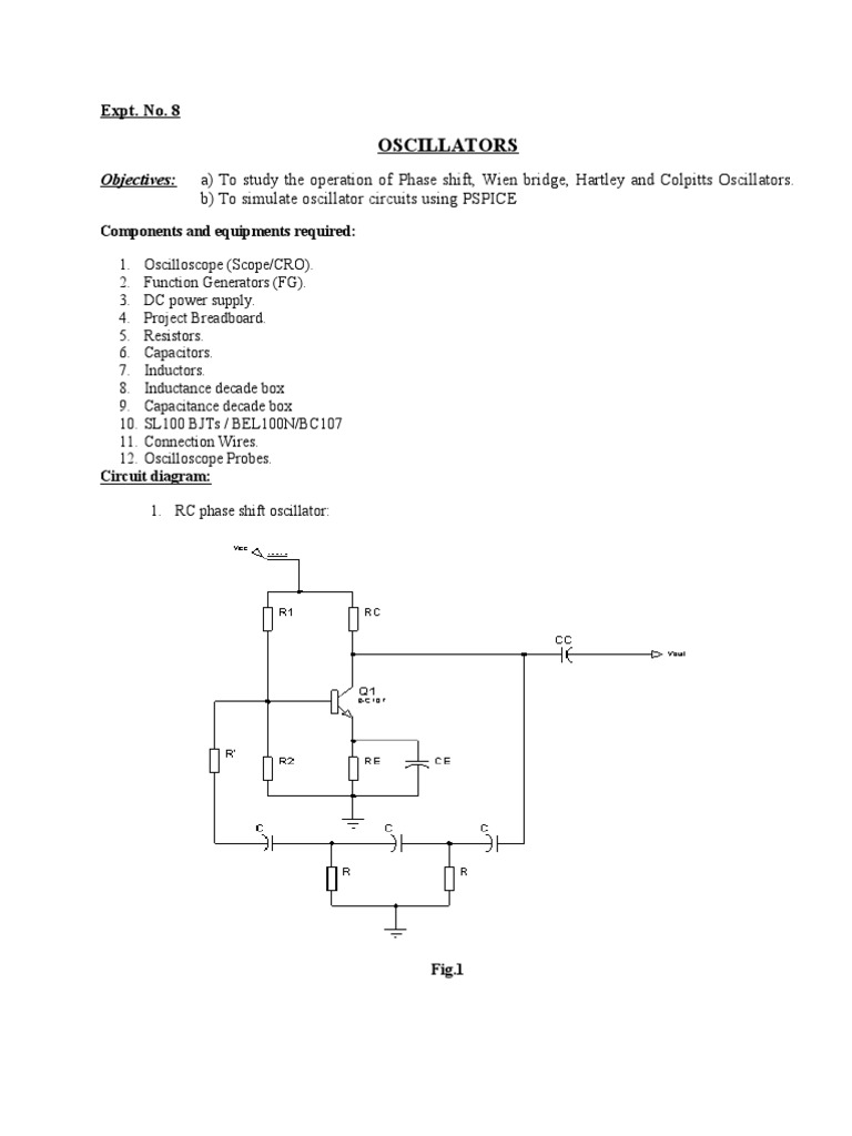 Oscillators Electronic Oscillator Amplifier The Colpitts Circuit Consists Of A