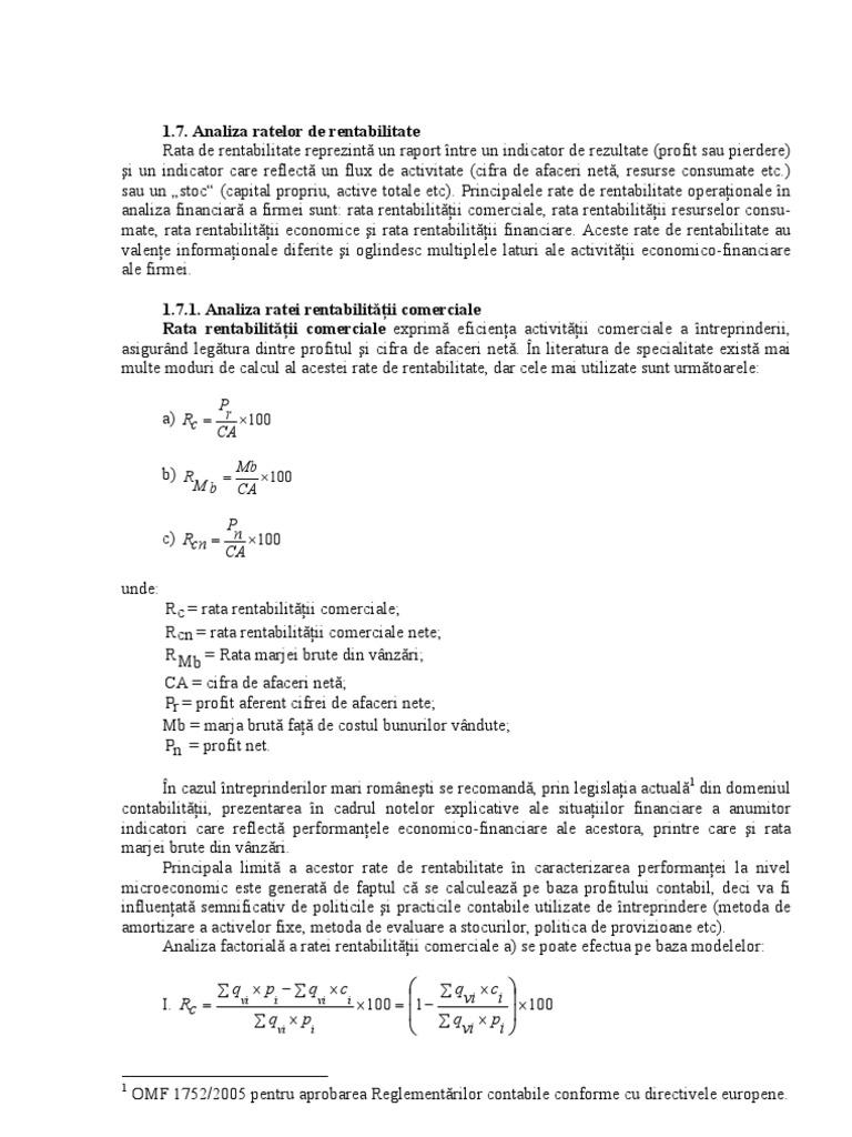 rata suplimentară de rentabilitate pentru un risc specific)