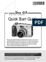 Canon PowerShot G3 Quick Start Guide