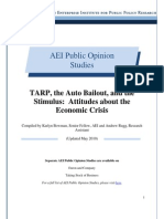 TARP, the Auto Bailout, and the Stimulus
