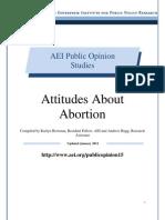Attitudes about Abortion, AEI Public Opinion Study, January 2011