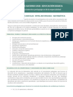Temario Del Area Matematica -Secundaria Concurso de Ascenso 2021 Ccesa007