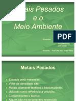 METAIS PESADOS E O MEIO AMBIENTE - SLIDES FINAL(2)