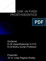 CAD CAM –IN FIXED PROSTHODONTICS