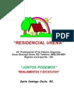 Reglamentos y Estatutos, Junta de Vecinos Residencial Ureña version de bolsillo2