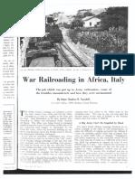 War Railroading in Africa, Italy Railway Age Vol 117 No 2
