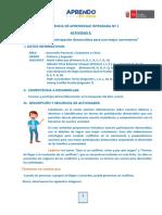 ACTIVIDAD 3 - EXPERIENCIA DE APRENDIZAJE INTEGRADA Nº 1