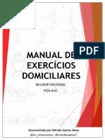 MANUAL DE EXERCÍCIOS DOMICILIARES PÓS-AVC