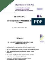 Organizaciòn y Procesos de Cambio