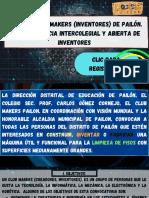 Convocatoria Makers (Inventores) de Pailón. 1ra Competencia Intercolegial y Abierta de Inventores