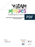 Creative Mosaics Mentoring in Community Arts and Culture - Online Survey Results