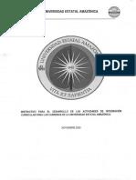 INSTRUCTIVO PARA EL DESARROLLO DE LAS ACTIVIDADES DE INTEGRACIÓN CURRICULAR PARA LAS CARRERAS DE LA UEA(1)