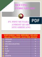Meeting Bulan Februari 2020