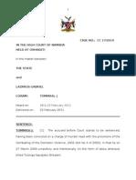 The State v Lazarus Gabriel  Sentence. CC 17 - 2010. Tommasi, J 23 February 2011. Doc