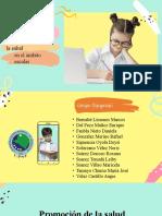Promoción y Educación Para La Salud en El Ámbito Escolar
