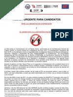 Agenda para los candidatos presidenciales sobre criminalización y la protesta social en el Perú