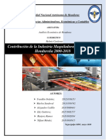 Contribucion de la maquila a la economia hondureña 2000-2018