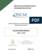 Plan Estrategico ONCAE 2016-2018