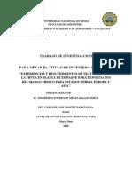 TRATAMIENTO DE MANGO PARA EXPORTACION