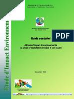 Guide d'EIE du projet d'exploitation miniere à ciel ouvert