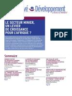 Le secteur Minier, un Levier de croissance pour L'afrique