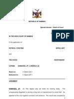 Piet Coetzee vs the State APPEAL JUDGMENT. CA52-09.Damaseb,JP Et Unengu,AJ