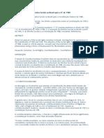 Constitucionalismo e Direitos Sociais no Brasil após a CF de 1988