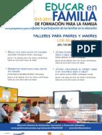 PLAN CANARIO DE FORMACIÓN PARA LA FAMILIA - EDUCAR EN FAMILIA - LOS SILOS