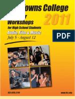 Five Towns College 2011 Summer High School Workshops Catalog