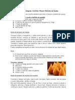 Receita coxinha, risole e bolinha de queijo