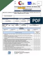 Acta de Revisión y Evaluación de Trabajo Especial de Grado (Cuantitativo)