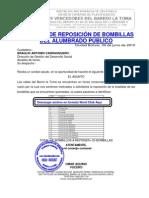 REPOSICION DE BOMBILLAS DEL ALUMBRADO PUBLICO