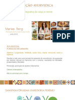 Introdução a Nutrição Ayurvedica 2019 por Marise Berg