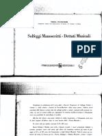 Poltronieri - Manoscritti