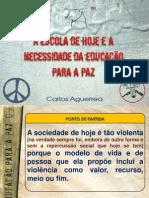 Necessidade da Educação para a paz