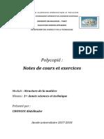 Chimie 1 polycopié résumé