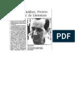 Delibes_Premio Nacional de Literatura