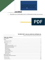 Checklist audit Système de vérification de la conformité et des processus