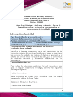 Guía de actividades y rúbrica de evaluación – Tarea - 3 - Resignificar, refinar, profundizar y contextualizar el conocimiento de la Unidad 2