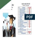 Tabel absolventi
