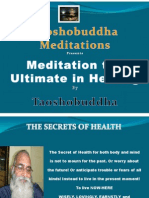 Meditation the Ultimate in Healing Slides